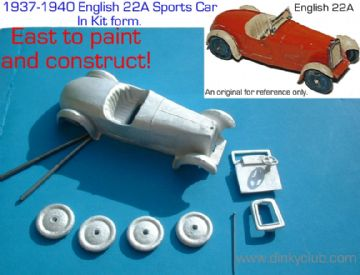 A DINKY TOYS COPY MODEL 22A SPORTS CAR [ IN KIT FORM ]